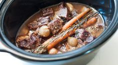 Simple slow cooker beef stew from The Cavery!
