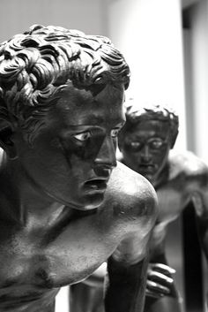 The young runners, Roman art on display at Museo Archeologico Nazionale of Naples (IT). The runners were found  in the great peristyle of the Villa of the Papyri at Herculaneum, and they are probably copies of Greek sculptures of the late 4th/early 3rd century BCE.