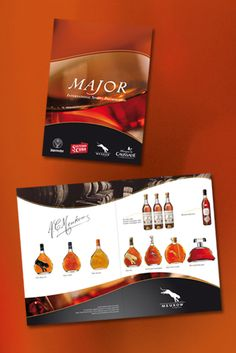 Maquette d'une plaquette commerciale pour le groupe Major