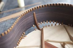 Acoustic Guitar Construction Inside Of Chamfer