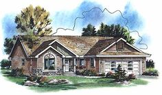 Craftsman House Plan chp-1032 at COOLhouseplans.com
