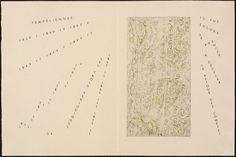 Untitled, pg. 24 (double page), in the book Maximiliana ou l'exercice illégal de l'astronomie: L'Art de voir de Guillaume Temple by Max Ernst (Paris: Iliazd, 1964).