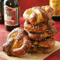 Soft Pretzels: Skip the mall and bake your own giant soft pretzel. This recipe delivers just the right amount of chewiness.