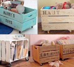 Le coffre jouets id es d coration chambre enfant - Caisse a roulette enfant ...