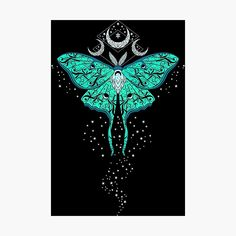 'Celestial Luna Moth' Photographic Print by RavenWake Luna Moth Tattoo, Moth Tattoo Design, Tattoo Designs, Moth Drawing, Butterfly Drawing, Moon Moth, Tattoo Project, Mushroom Art, Beautiful Bugs