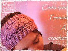 Cinta para el pelo con trenza a crochet (diestro) - YouTube