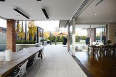 Designed by a leading Melbourne Designer, Shorestone Paving, wall facings and cappings were chosen for the external landscape surfaces of this beautiful home. www.limestoneaustralia.com.au