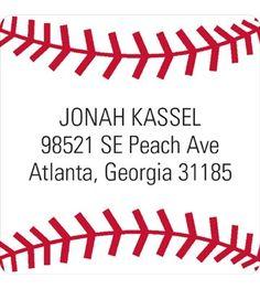 Address Labels -- Baseball All Star