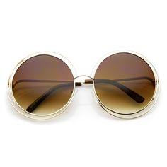 Retro Dual Metal Round Sunglasses With Revo Lens - zeroUV