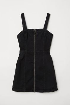 Bib Overall Dress - Black - Ladies H M Outfits, Teenage Outfits, Girly Outfits, Cute Casual Outfits, Pretty Outfits, Stylish Outfits, Dress Outfits, Grunge Outfits, Spring Outfits