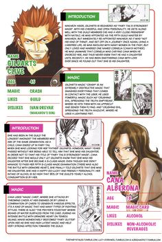 The Fairy's Tales — Personal data: Makarov, Gildarts, Cana from...