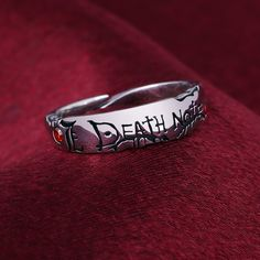 Cheap Rings, Buy Quality Jewelry & Accessories Directly from China Suppliers:Anime Ring Death Note Yagami Light S925 Sterling Zircon Finger Ring Adjustable Jewelry Cos Prop Christmas Gift Jewellery Enjoy ✓Free Shipping Worldwide! ✓Limited Time Sale✓Easy Return. Emo Jewelry, Grunge Jewelry, Hand Jewelry, Fantasy Jewelry, Stylish Jewelry, Gothic Jewelry, Cute Jewelry, Jewelry Rings, Jewelry Accessories
