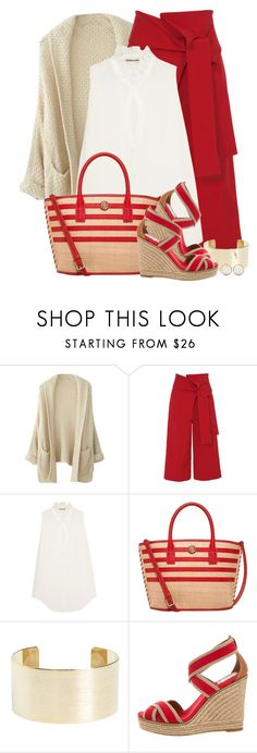 """""""Tory Burch - Bag & Shoes"""" by colierollers ❤ liked on Polyvore featuring TIBI, Elizabeth and James, Tory Burch, Panacea and Balenciaga"""