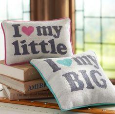 PB Teen has big and little pillows