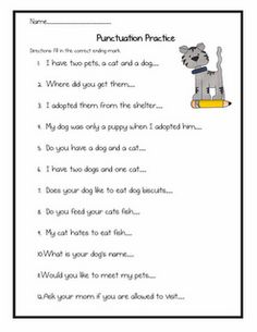 Printables Punctuation Practice Worksheet punctuation articles and search on pinterest practice