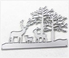 PANFELOU 10*11CM Metal craft Forest and magical deer paper die cutting dies for Scrapbooking/DIY Home decor halloween cards -- Want additional info? Click on the image.