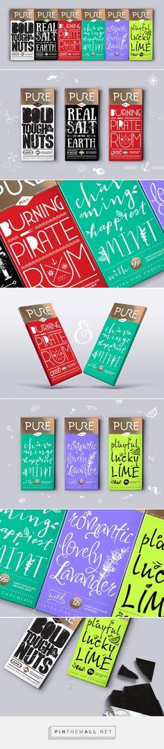 Pure - Chocolate For Couples... and not only! | Daria Fox #packaging #typography