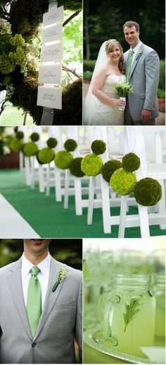 Kelley Green Wedding Color Palettes