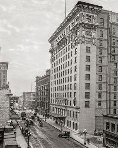 Minneapolis Hotel Radisson and 7th St. Photo, Minnesota, Wall Art, Home Decor, Print Minneapolis, Black and White, Historical, Photo