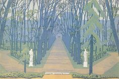 Alley in Tsarskoe Selo, 1905 by Anna Ostroumova-Lebedeva.