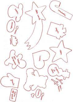 Calendario dell'Avvento in feltro: Cartamodelli e Tutorial Christmas Crafts Sewing, Easy Halloween Crafts, Christmas Templates, Sewing Crafts, Felt Christmas Decorations, Felt Christmas Ornaments, Christmas Time, Ornament Template, Ornaments Design