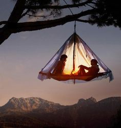 Hanging Tent!  Camping Resort in Pfronten, Germany.