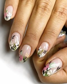 Nail Designs nail designs for fall nail designs for summer gel nail designs - Lilly is Love Minimalist Nails, Spring Nails, Summer Nails, Fall Nails, Ten Nails, Nagellack Trends, Floral Nail Art, Nagel Gel, Chrome Nails