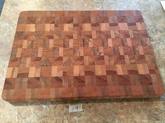 Solid Maple & Spalted Red Oak Hardwood End Grain Cutting Board, Checkerboard Butcher Block, All Natural Handmade Kitchen Gift Ready To Ship