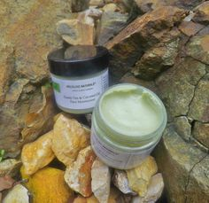 Green Tea & Coconut Oil Face Moisturizer Small by HoldLuxeNaturale