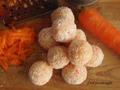 Τρουφάκια καρότο - καρύδα Healthy Food, Healthy Recipes, Sweets, Cheese, Healthy Foods, Gummi Candy, Candy, Healthy Eating Recipes, Goodies