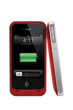Juice Pack Air for iPhone 4 & 4S  RED Special Edition - Red Charges your phone on the go!!!