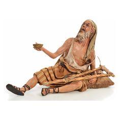 Mendigo terracota 30cm, Angela Tripi   venta online en HOLYART Christmas Nativity Scene, Christmas Carol, Modelos 3d, Terracota, Paper Models, Miniture Things, Ancient History, Wood Carving, Cribs