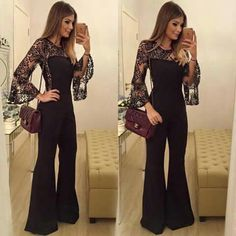 """{All Black ✨} Macacão Hijab Styles, Hijab Fashion, Fashion Outfits, Womens Fashion, Jumpsuit Elegante, Mode Hijab, Jumpsuit Dress, Look Chic, Jumpsuits For Women"