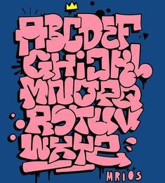 Typography of the magical godparents - - leichte graffiti buchstaben - Graffiti Alphabet, Grafitti Letters, Graffiti Lettering Fonts, Graffiti Writing, Creative Lettering, Lettering Styles, Lettering Design, Graffiti Tagging, Typography