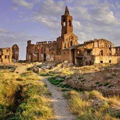 Belchite - San Martín de Tours church, in the old village of Belchite, now abandoned.