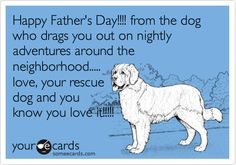 happy father's day ecard from dog