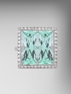 Mint Tourmaline Twin Ring