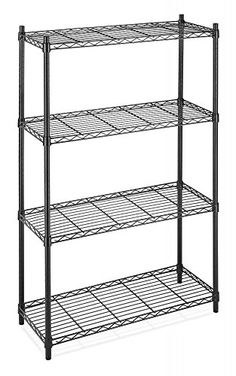 Item Description 4-Tier Shelving Unit features Black or Chrome, ventilated shelves that adjust at one Inch increments. Shelves will hold 350-Pounds, it is great for office, garage, entertainment, kitchen. Unit measures 14-Inch by 36-Inch by 54-Inch Features: NSF certified Black powder... more details available at https://furniture.bestselleroutlets.com/home-office-furniture/hutch-furniture-attachments/product-review-for-black-chrome-commercial-4-tier-shelf-adjustablesteel-wir