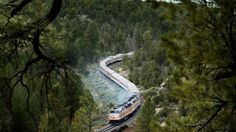 This photo provided by Grand Canyon Railway shows the train on its daily run between Williams, Arizona, and the Grand Canyon's South Rim. Grand Canyon Railway, Grand Canyon South Rim, Grand Canyon Train, Grand Canyon Hotels, Grand Canyon Vacation, Alaska Travel, Canada Travel, Travel Usa, Las Vegas