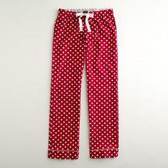 Factory printed flannel sleep pant