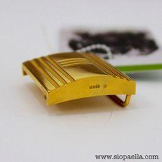 Hermès Gold Indented Belt Buckle