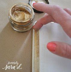 Chalk Paint Tutorial - Sincerely Sara D Tinta Chalk Paint, Blue Chalk Paint, Chalk Paint Brands, Metallic Paint, Chalk Paint Projects, Chalk Paint Furniture, Diy Projects, Gold Painted Furniture, Furniture Design