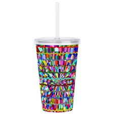 Decorative Colors Acrylic Double-wall Tumbler