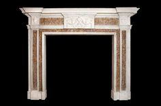 Bowood inlaid marble fire surround