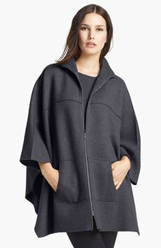 Eileen Fisher Boiled Wool Poncho Cardigan available at #Nordstrom