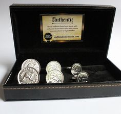 The Silver Plated Australian Coin Cufflinks – 3 Pair Set includes three pairs of plated silver cufflinks. This Australian coin cufflinks set is an Ideal present  idea for men.