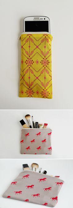 DIY: zip pouches