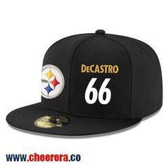 Pittsburgh Steelers #66 David DeCastro Snapback Cap NFL Player Black with White Number Hat