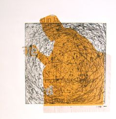 Alice Sheridan | etching with chine colle