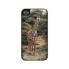 """Airstrike® Giraffe iPhone 5s Case, Giraffe iPhone 5 Case, Giraffe iPhone Case Protective Giraffe Phone Case """"Curious Approach"""" 50-5746"""